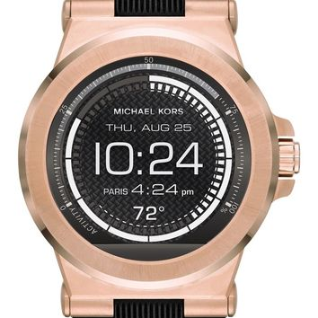 Michael Kors Dylan Silicone Strap Smart Watch, 46mm | Nordstrom
