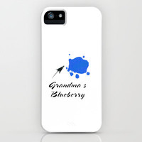grandma' s blueberry iPhone & iPod Case by Steffi Louis-findsFUNDSTUECKE