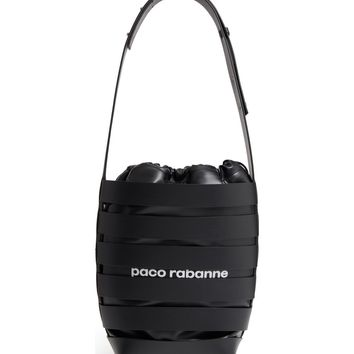 paco rabanne Medium Cage Leather Bucket Bag | Nordstrom