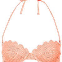 Tangerine Scallop Bikini Top - Swimwear - Clothing - Topshop USA