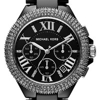 Michael Kors 'Camille' Chronograph Ceramic Bracelet Watch, 43mm | Nordstrom
