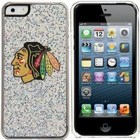 Chicago Blackhawks iPhone 5/5s Bling Thinshield Snap-On Case – Silver