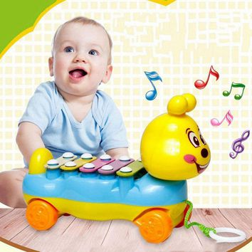 Colorful Caterpillar 5-Note Xylophone Feeding-bottle