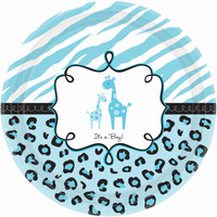 Safari Baby Shower Boy - Dinner Plates (18)