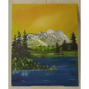 Oil on Canvas 20in x 16in Painting Artist Michael Blanchard Mountain Landscape