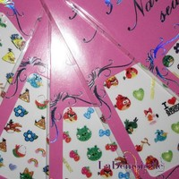 Hello Kitty Nail Art Stickers - 10 pack Mixed Design With Popular Character Nail Sticker