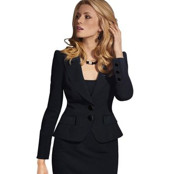 Vfemage Womens Autumn Winter Long Sleeve Turn Down Collar Notch Pocket Button Wear to Work Office Business Blazer Jacket 1359