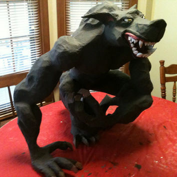 Large Werewolf Pinata by PaperMacheSculptures on Etsy