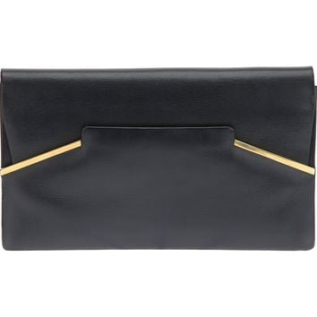 Delvaux Vintage Stylish Contrast Box Clutch