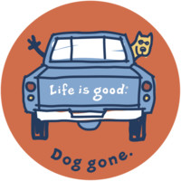 Dog Gone Sticker|Life is good
