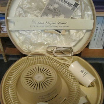 GE vintage portable working hair dryer