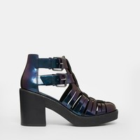 ASOS EXTRA TIME Gladiator Crepe Mix Ankle Boot