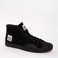 Vision Streetwear Leather Hi-Top Trainers
