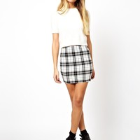 ASOS Mini Skirt in Check Print