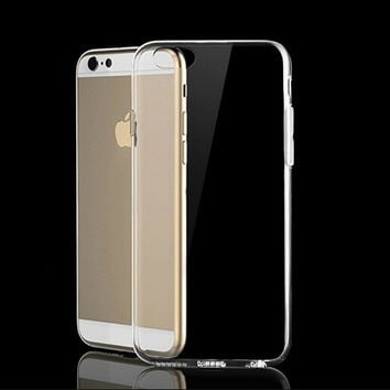 Transparent Case TPU Cover for iphone 7 7 Plus & iphone 6 6s Plus & iphone se 5s + Gift Box