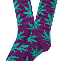 Huf Plantlife Socks in Purple and Geen