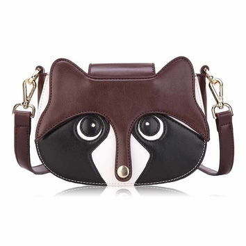 Creative Crossbody bag Cute Fox Pattern Bags PU Messenger Bag Casual Shoulder Sling Bags