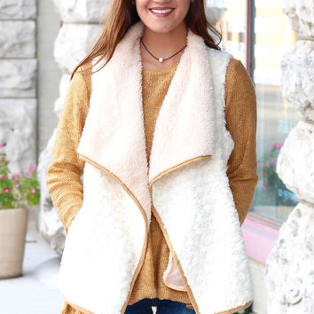 Softy Two Tone Fur Vest {Beige Mix}