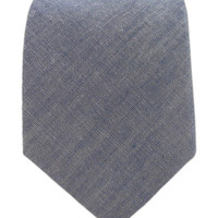 TheTieBar - Classic Chambray Tie, Warm Blue
