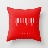 LIFE Throw Pillow by Steffi by findsFUNDSTUECKE