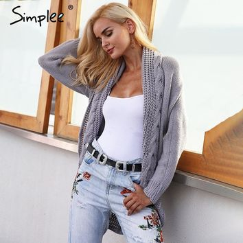 Simplee Winter shrug knitted sweater
