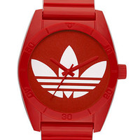 adidas Watch, Red Polyurethane Bracelet 42mm ADH2655 - All Watches - Jewelry & Watches - Macy's