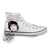 Liam payne Quotes One Direction White shoes New Hot Shoes