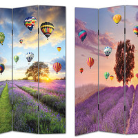 Bright Colored Room Divider-Air Balloons Images