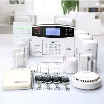 HOMSECUR Wireless&wired GSM Home Security Alarm System (Support English/ES/DE/FR/RU voice)