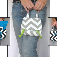 Small Purse. HandBag Wristlet. Clutch designed to be gifted at the GBK's 2014 Golden Globes Gifting Lounge. 17 Chevron choices. Under 25