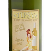 Tipsy Candle Company 'Lemon Tini' Recycled Wine Bottle Scented Candle