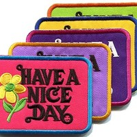 Lot of 5 Have a Nice Day 70s retro hippie boho groovy appliques iron-on patches