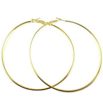 Silver gold plated big hoop earrings for women high quality jewelry geometric earrings hoops circle brinco argola grande