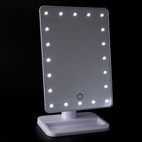 Makeup Mirror with Light Portable Table 20 LEDs Lamp Luminous 180 Rotating LED Light Vanity Table Mirror