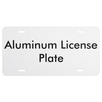 Customized Aluminum License Plate