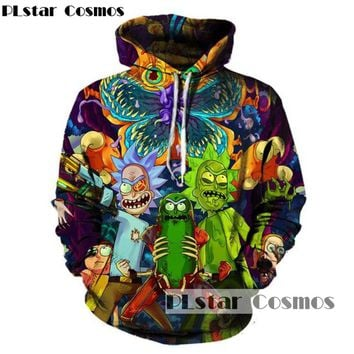 PLstar Cosmos New Rick and Morty hoodies sweatshirt 3D Print unisex unisex sweatshirt hoodies Scientist Rick men/women clothing