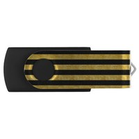 Black and Gold Stripes Swivel USB 2.0 Flash Drive