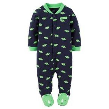 Just One You™Made by Carter's® Newborn Boys' Sleep N Play Footed Sleepers - Blue/Green