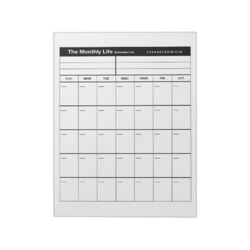 The Monthly Life Notepad