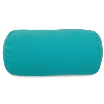 Teal Round Bolster Pillow