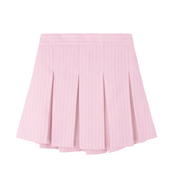Pinstripe Pleated Tennis Skirt | MIXXMIX