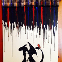 Train your Dragon melted crayon art