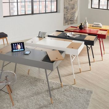 Aalto Two-tone Compartment Desk with Charging Station iNSPIRE Q Modern | Overstock.com Shopping - The Best Deals on Desks