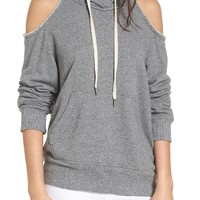 Splendid Cold Shoulder Hooded Sweatshirt | Nordstrom
