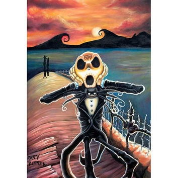 Jack Screams Art Print by Artist Joey Rotten