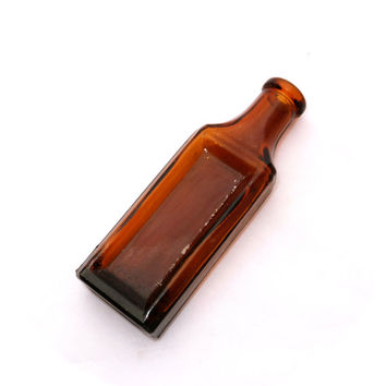 Brown Apothecary Bottle, Old Brown Glass Bottle,  Bottle, Brown Glass Bottle, Medicine Bottle, Antique Brown Glass Bottles