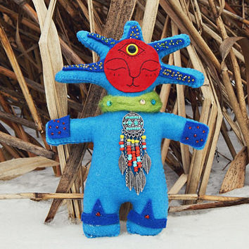 magic doll forest spirit Totem doll Spirit Doll Collectible doll fantasy doll ooak doll fantasy creature fairy shamanic totem magic creature