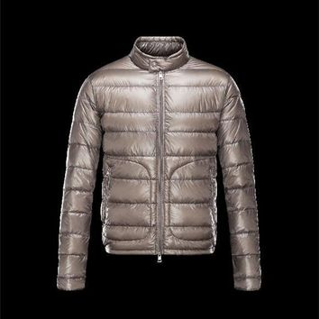 Moncler ACORUS Ultralight Grey Jackets Techno Fabric/Polyamide Mens 41338935LG