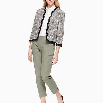 scallop tweed jacket | Kate Spade New York