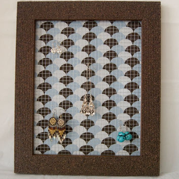 Modern Background with Textured Picture Frame Earring Holder